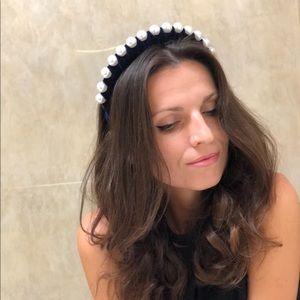 Braided Headband with pearls